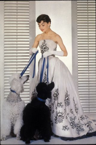 Audrey with poodles from Sabrina