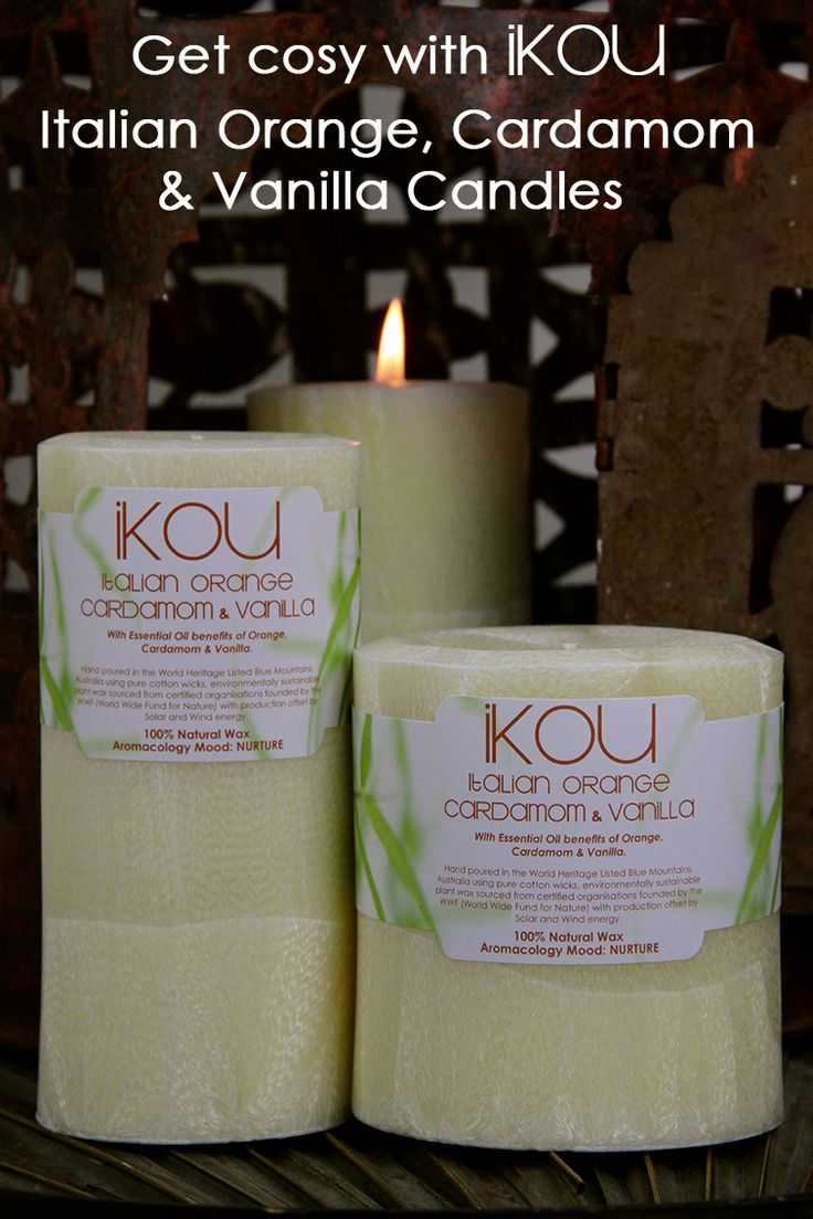 BRRRRR.... its getting chilly outside..... snuggle up with our cosy Italian Orange Cardamom & Vanilla candles....  rest . relax . restore iKOU.com.au