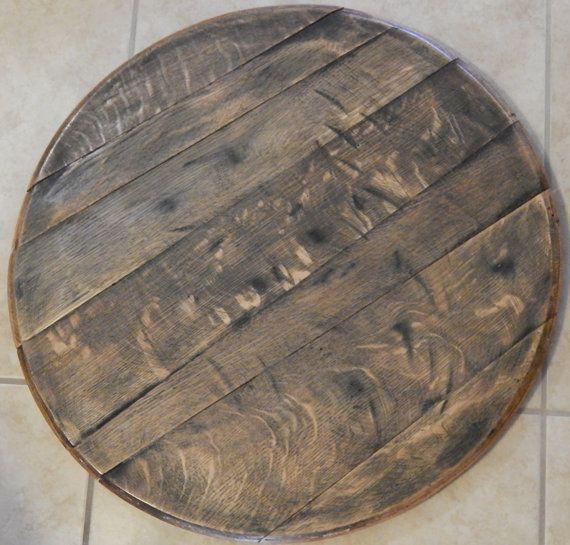 Wine Barrel Lazy Susan by TheCraftyHubby on Etsy