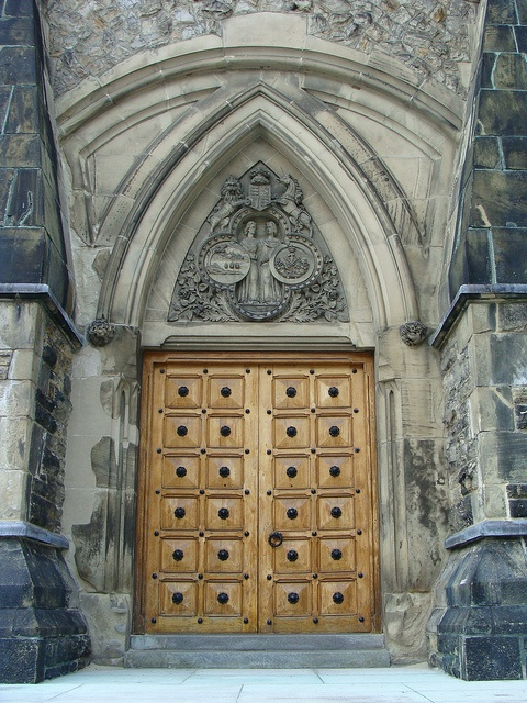 Doorway to the Library of Parliament, Ottawa, Canada.