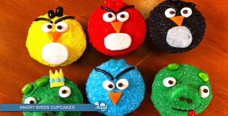 How to make Amazing ANGRY BIRDS CUPCAKES !