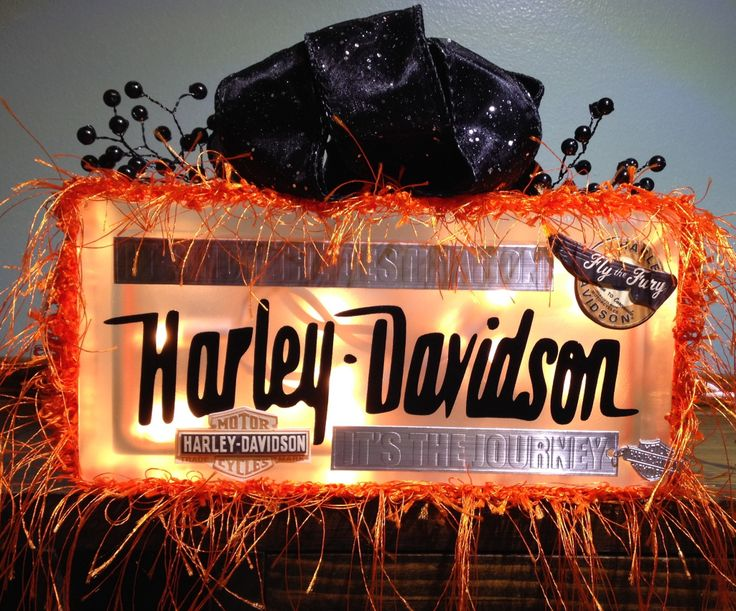 Harley Davidson glass block.  I have a page on Facebook. It's called Blocks By Brooke. Like my page & check out my other blocks. Thanks! :)