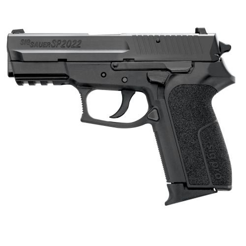 Sig Sauer Sp 2022...I have one of these pistols in a .40cal and it shoots wonderfully. For being the first pistol I've owned, I am happy with my choice.