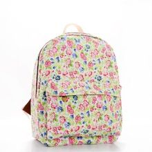 Promoção 2015 Super qualidade de exportação mochila mulheres lona mochila mochilas escolares rosa doce impresso coreano estudantes mochilas(China (Mainland))