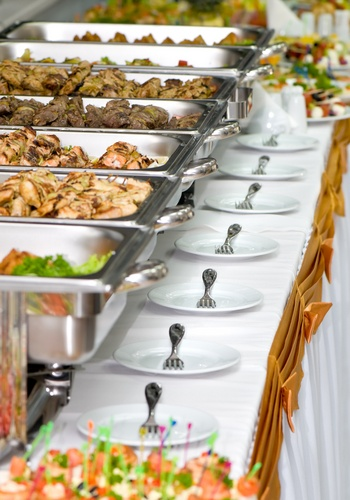 Buffet Line Backyard Wedding Receptionswedding