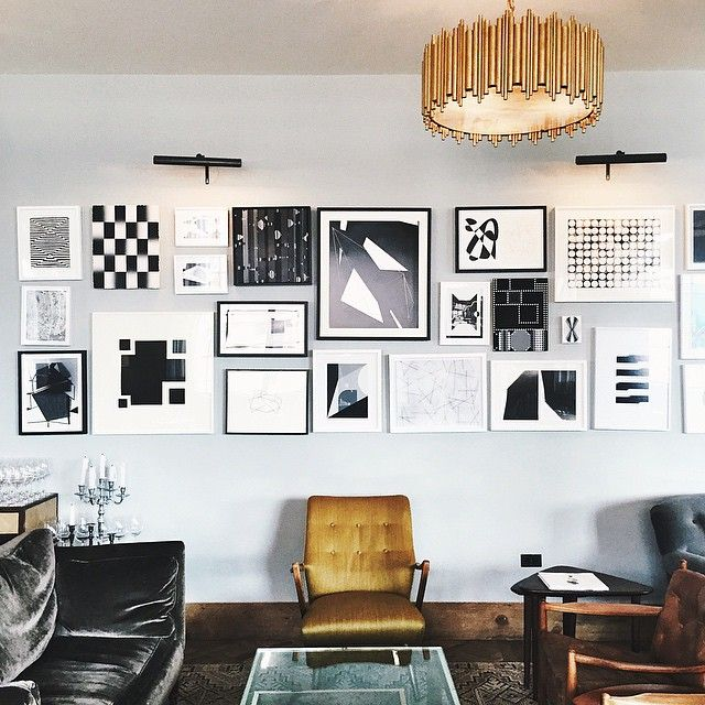 Snuck a photo at Soho House because I love gallery walls and the chandelier is too amazing. #Padgram