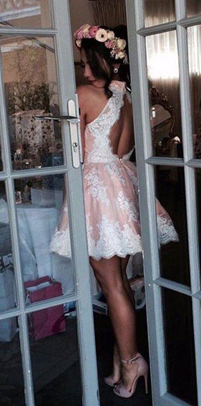 short homecoming dresses, pink short homecoming dresses, sexy homecoming…