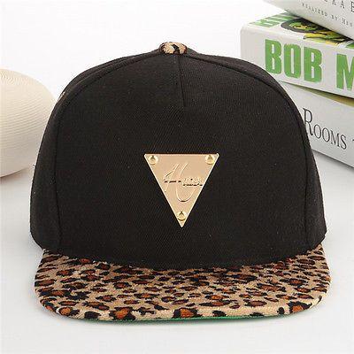 New-Men-Trukfit-Black-Leopard-Brim-Baseball-Snapback-Hats-Bboy-Adjustable-Cap