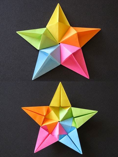 Beautiful Bi color geometric paper Folding