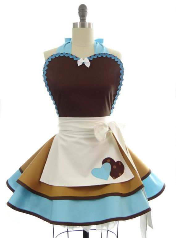 Retro Apron - Cinderella Work Sexy Womans Aprons - Vintage Apron Style - Pin up Rockabilly Lolita Cosplay