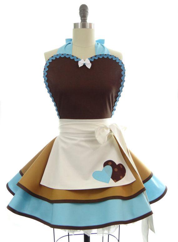 Retro Apron  Cinderella Work Womens Aprons  por bambinoamore