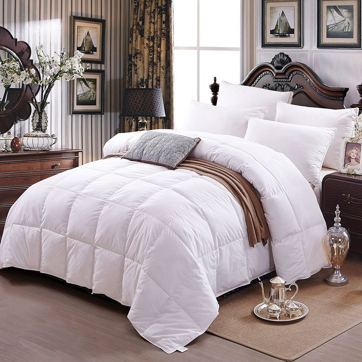Zoom Alternative Goose Down Comforter Is Made Of High Quality Cotton Soft And Breathable Provides A Cozy Warmth