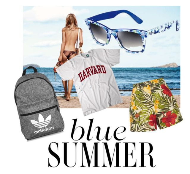 Summer Mood by lenshop-gr on Polyvore featuring Miguelina, adidas and sunglasses Ray-Ban Wayfarer 2140 http://lenshop.gr/manufacturers/9268-ray-ban/sunglasses