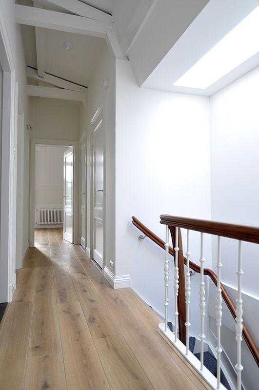 Het daklicht geeft ook op zolder veel extra licht