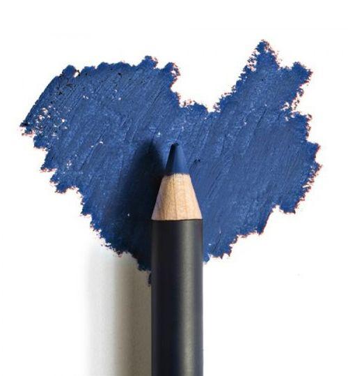 matita blu per occhiombretto verde satinato o perlato, tamponandolo proprio sulla riga che hai fatto prima, cercando di non fuoriuscire dai contorni. effetto cangiante