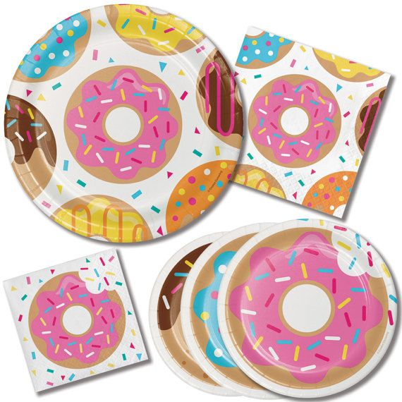 Donut Party Party Cups Donut Grow Up Donut by thepartiesthatpop