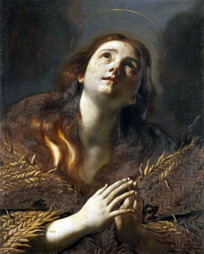 The Penitent Magdalene - Mattia Preti - Hand-Painted Reproduction and Canvas Print