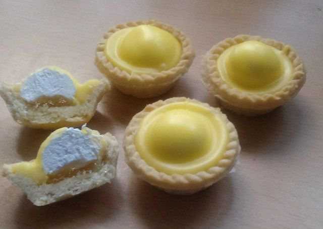 Pineapple cream tarts ...this recipe looks promising if I add back in the gluten, dairy, and egg.