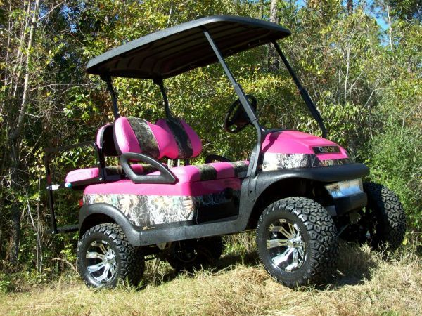 camo hot pik golf cart   Golf Cart / Utility • Custom Club Car Precedent PINK CAMO GOLF CART ...