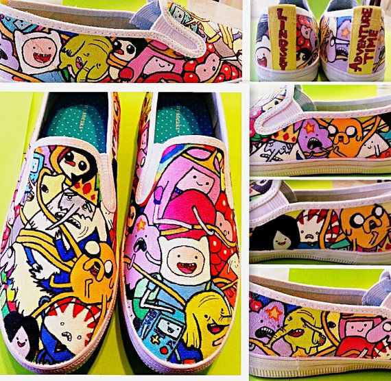 Hey, I found this really awesome Etsy listing at https://www.etsy.com/listing/77533969/adventure-time-shoes