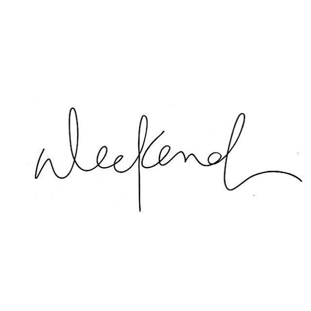 Hello weekend RG/ @penheartspaper ❤️#weekend #typography #quote #bondi #penheartspaper