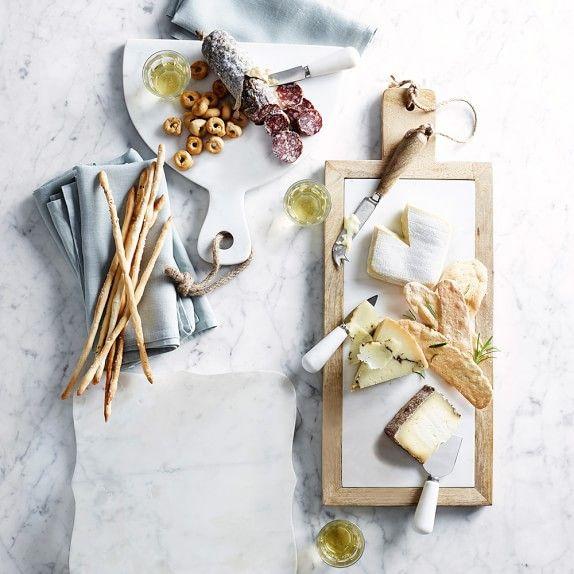 Scalloped White Marble Cheese Board   Williams-Sonoma