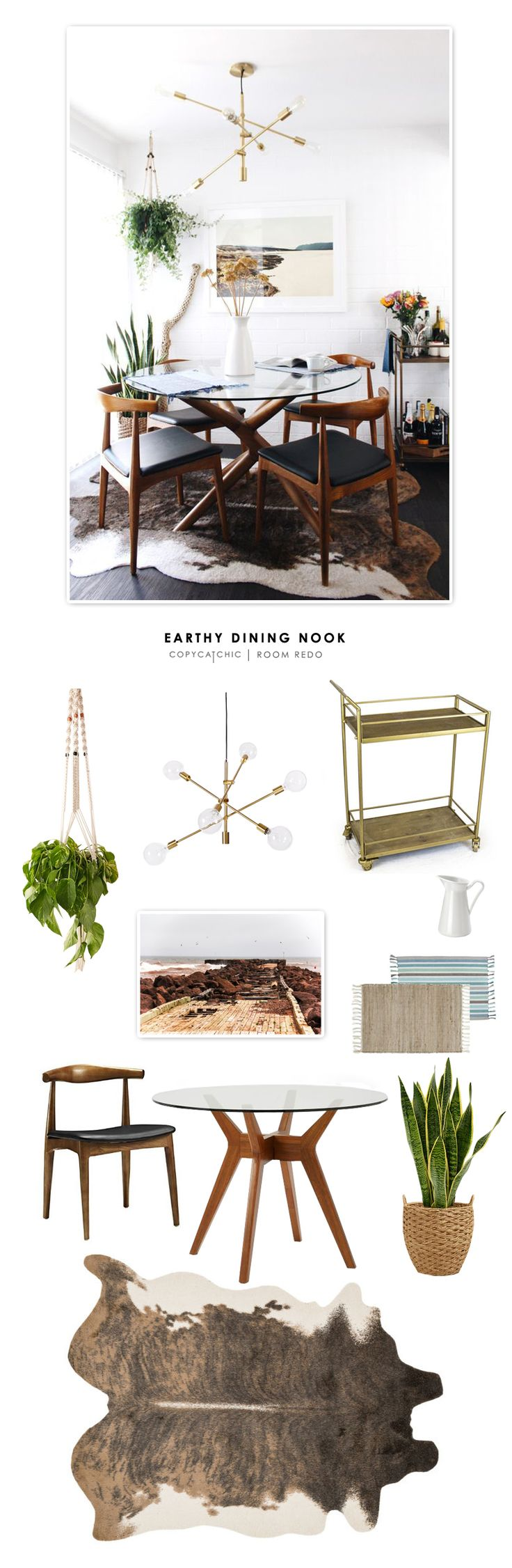 Copy Cat Chic Room Redo | Earthy Dining Nook