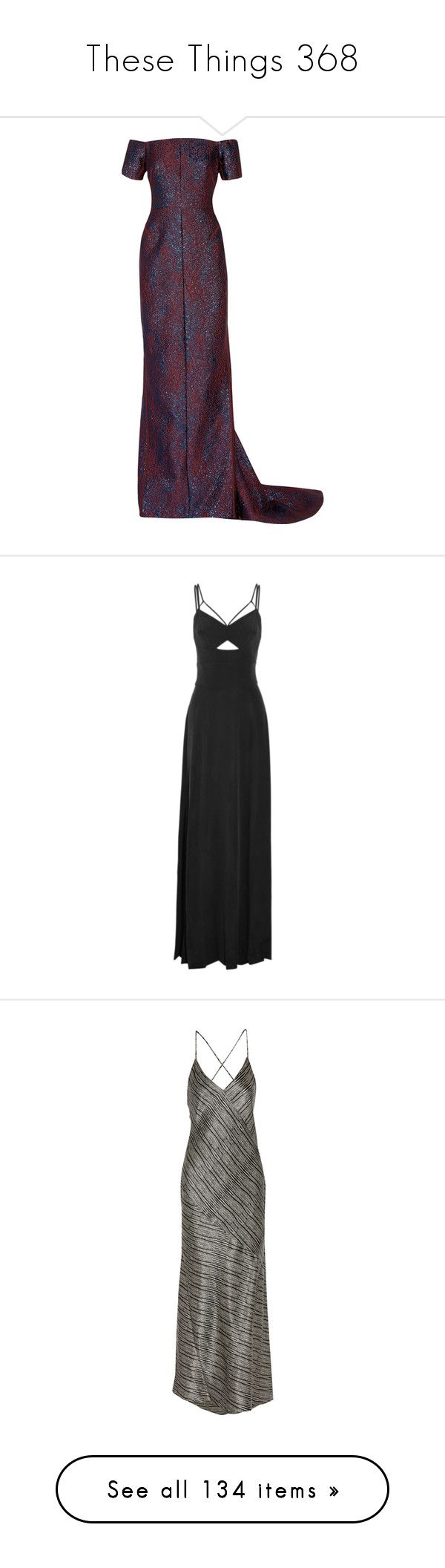 """""""These Things 368"""" by katiemarilexa ❤ liked on Polyvore featuring dresses, gowns, plum, metallic dress, plum gown, off the shoulder ball gown, white evening dresses, white off the shoulder dress, gown and charcoal"""