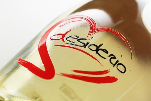 Desiderio Wine label: Cantina Aldo Adami di Custoza by Creative Point, via Behance