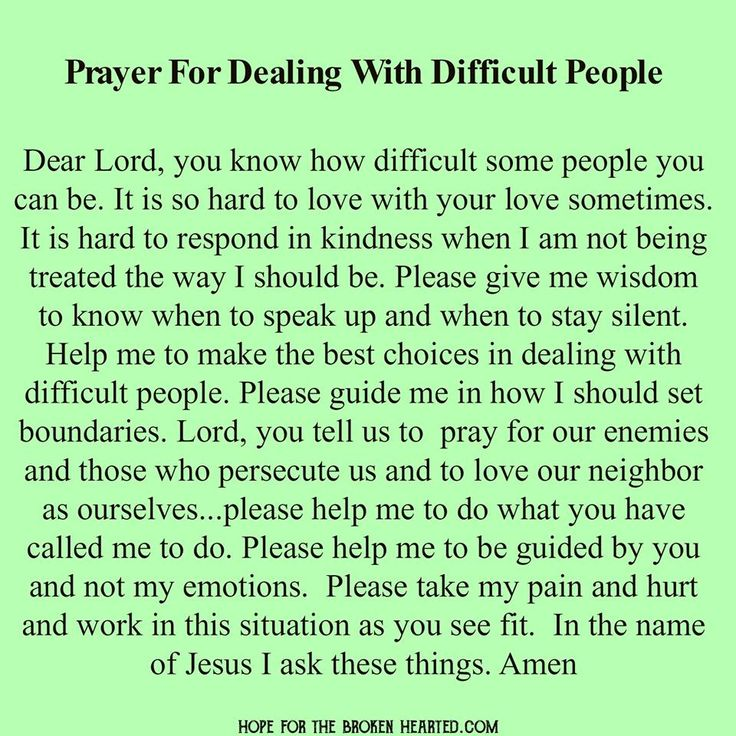 Prayer for Dealing with Difficult People