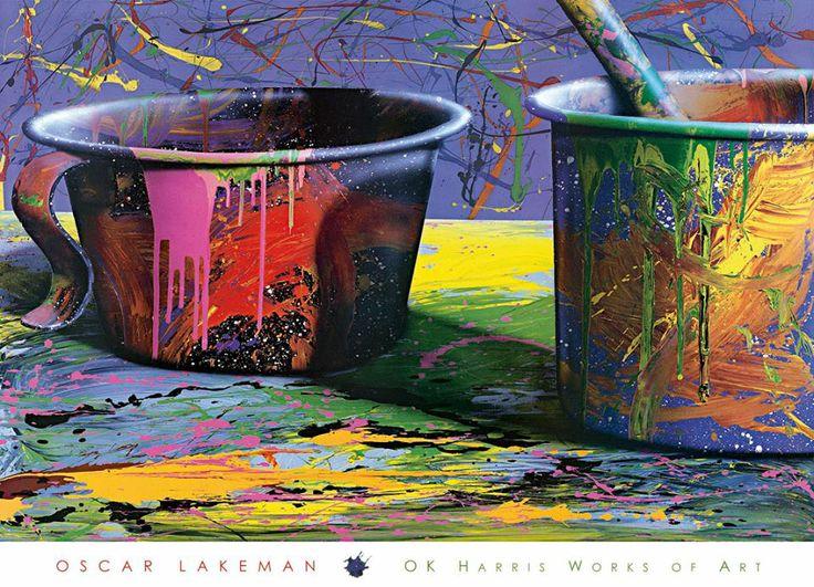 Secchi di vernice colorata (poster)