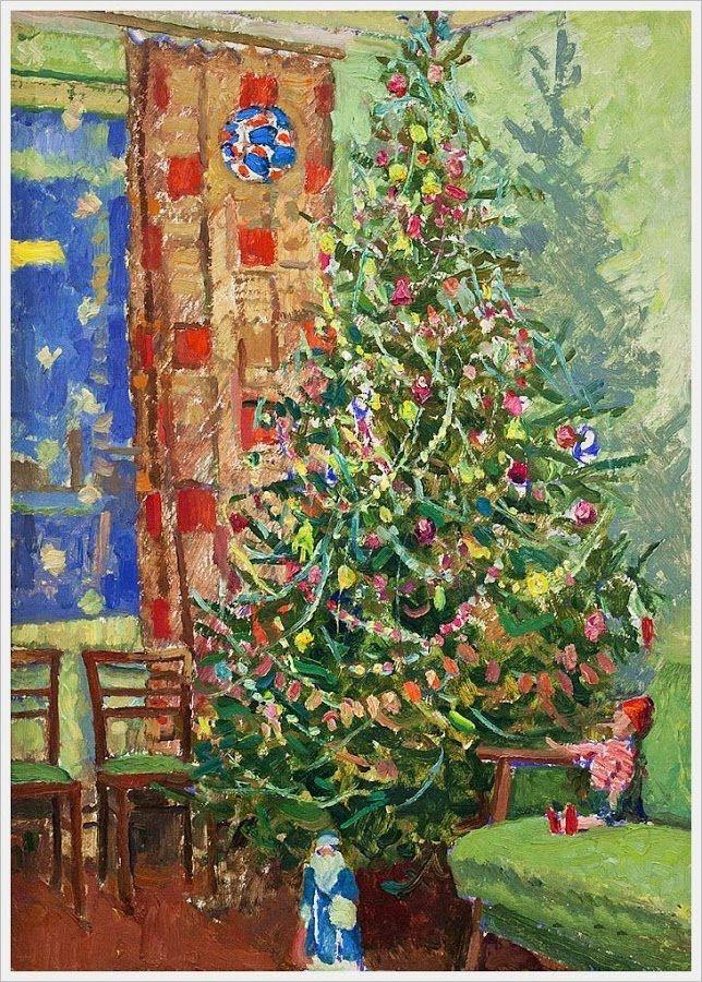 Мазанов Леонтий Никифорович (Россия, 1902-1982) «Новогодняя елка» 1960