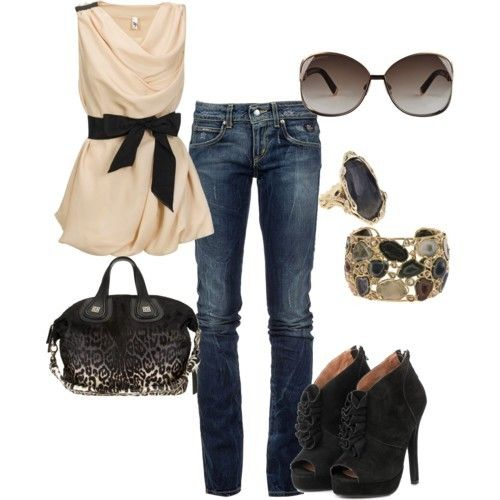 Fashion Friday: 21 Outfits for Fall {fashion 2011} - LOVE this top with jeans for date night (other great outfits too!)