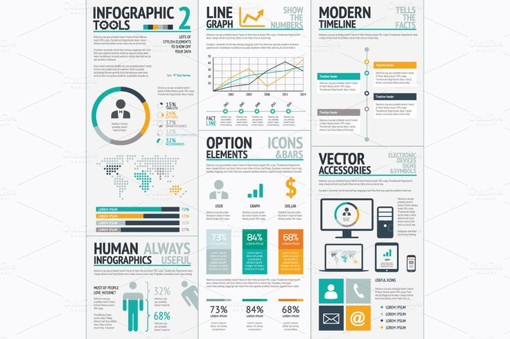 Infographic tools 2 big vector set by Infographic Template Shop on Creative Market