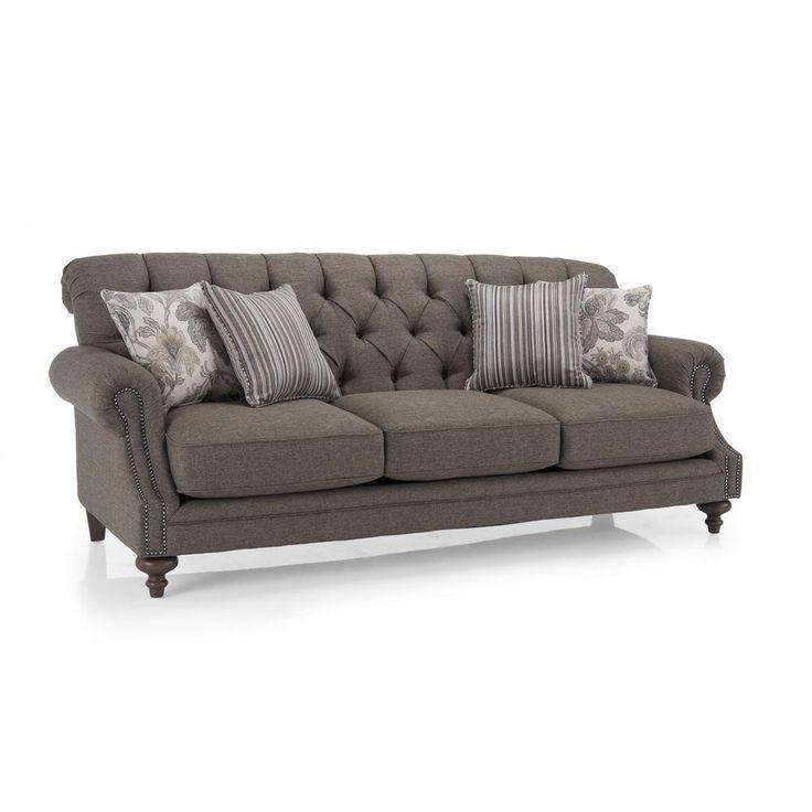 Gorgeous Tufted Sofa With Nailhead Trim