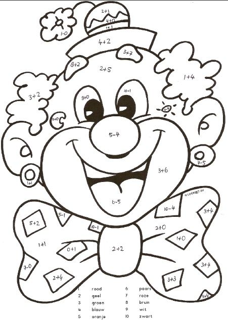 clown mouth coloring pages - photo#21