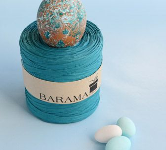 Turquoise Raffia...such a strong, vibrant colour