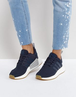 c92d4a0a5 adidas Originals NMD R2 Sneakers In Navy
