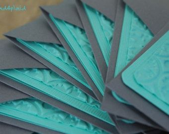 Color scheme for wedding - gray and teal