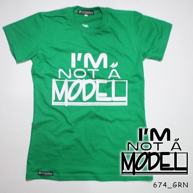 """I'm Not a Model"". Ladies Tees.  Polyflex White by @eiffashion 