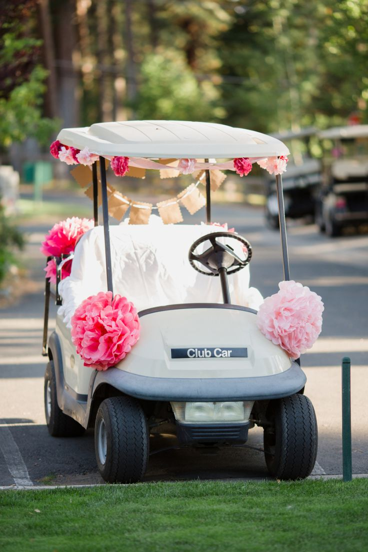 Decorated golf cart if wedding is near or on a golf course!