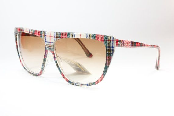 IDC 92 plaid oversize handmade in France by GreenFlamingoVintage, €170.00