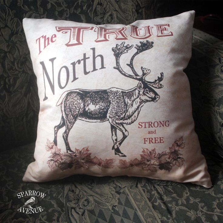 When I was first designing this Canadian Pillow, I was remembering travel pennants with their stylized lettering and symbolic imagery.
