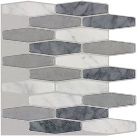 Peel&Stick Mosaics Peel and Stick Marble Composite Vinyl Mosaic Scale Peel-And-Stick Wall Tile (Common: 10-in x 10-in; Actual: 9.4-in x 10-in)