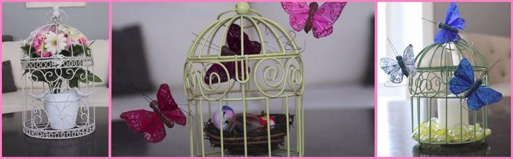 Decorare le gabbiette per uccelli