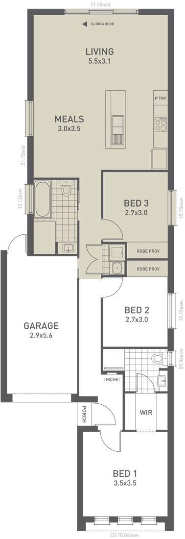Design Thirteen Floorplan Option B   From The Weeks And Macklin Homes  Choice Series. Intelligent