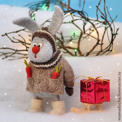 Санечка - заяц,зайчонок,ЗАЙ,Новый Год,новый год 2014,зима,Снег,лес,лес новогодий