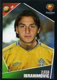 Zlatan Ibrahimovic of Sweden. Euro 2004 card.
