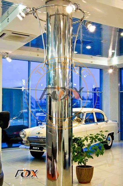 Декоративные колонны из нержавеющей стали, изготовление в Киеве