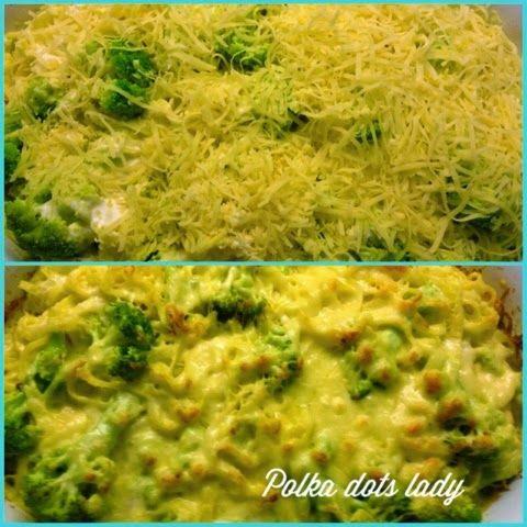 My Recipe spaghetti with broccoli and cheese. polka dots lady: Ταλιατέλες φούρνου με μπρόκολο
